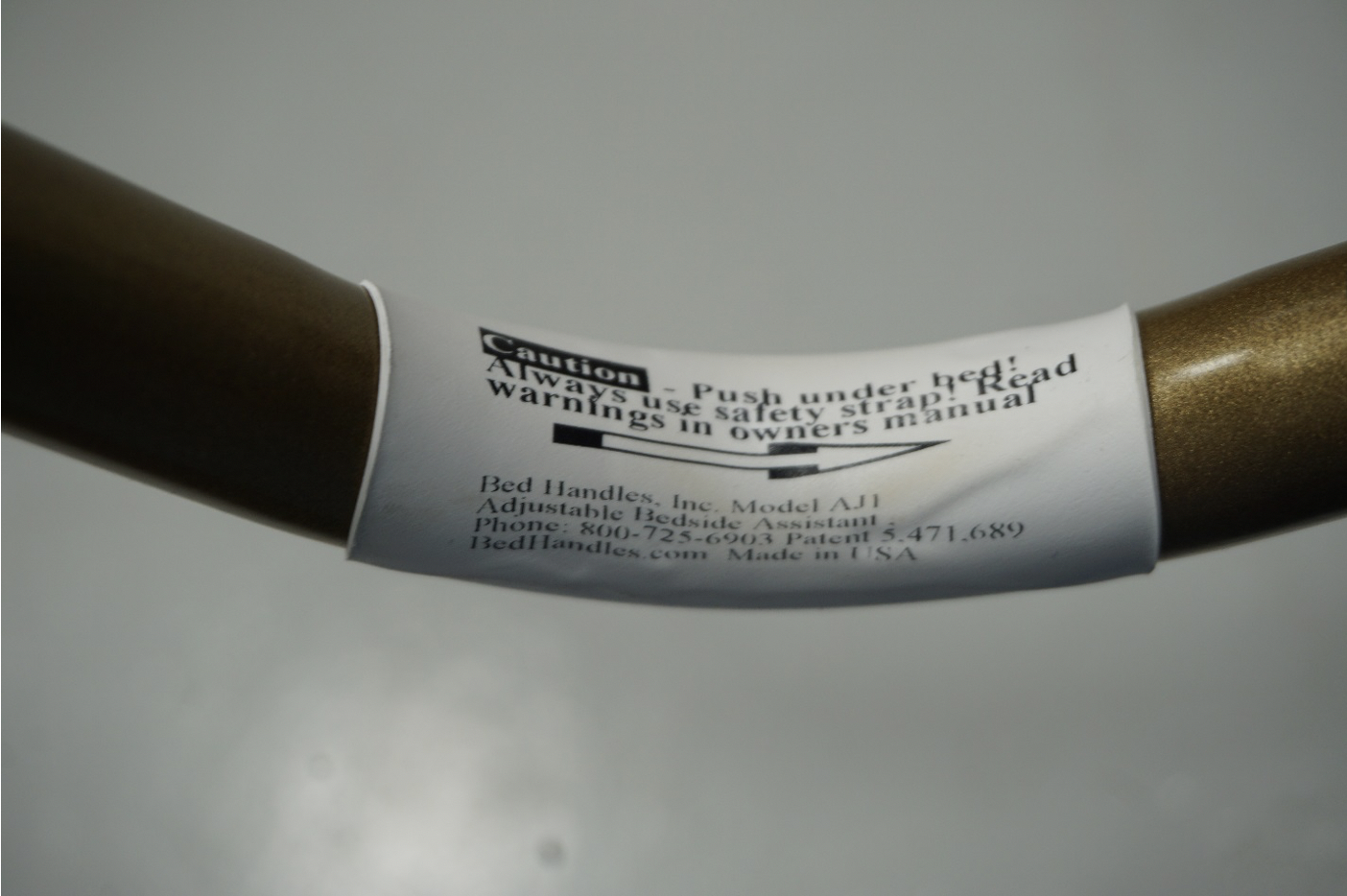 Sticker where model number can be found