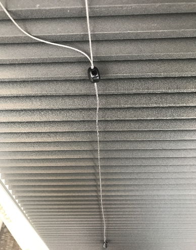 Recalled Levolor cellular shade permanent cord connector