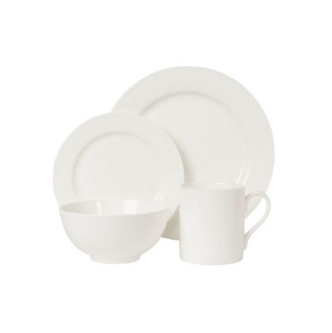 Recalled Fitz and Floyd Nevaeh White Can Mug Sold with Dinnerset
