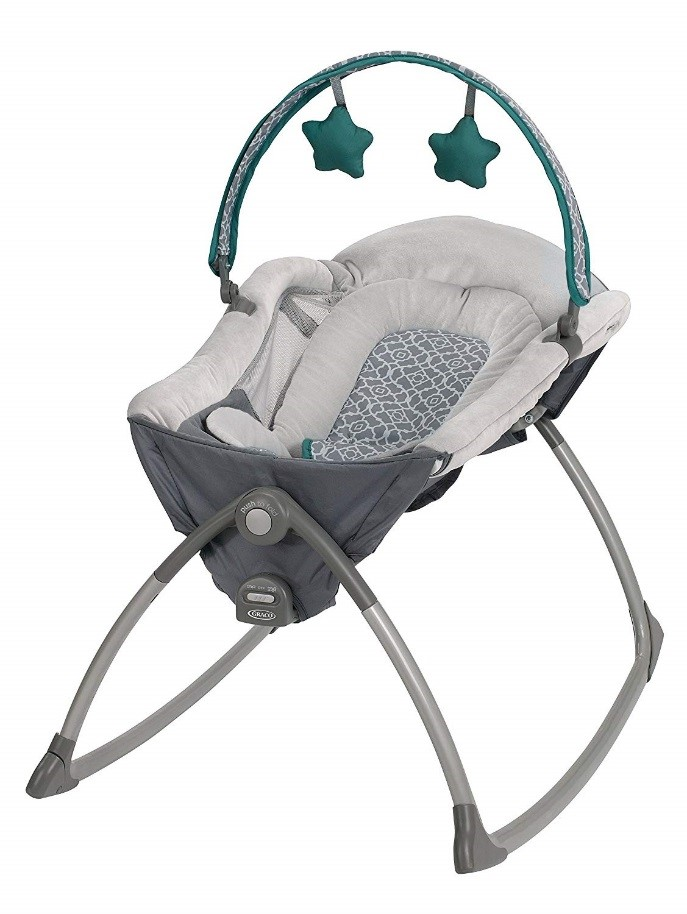 Graco Little Lounger Rocking Seat (This photo is a representative image. Your Little Lounger fabric may look different.)