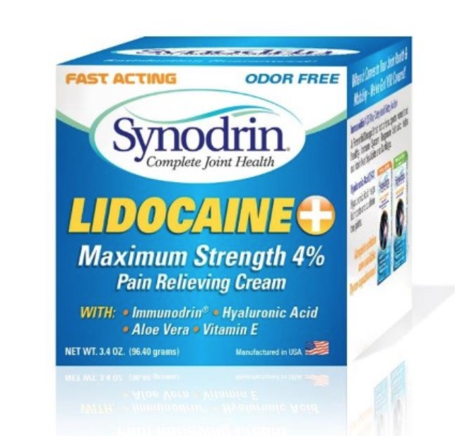 Synodrin Lidocaine Maximum Strength Box
