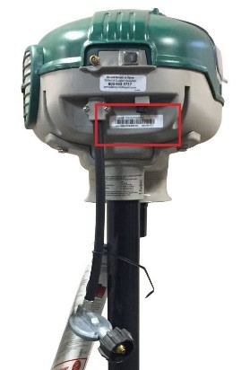 Location of serial number on product
