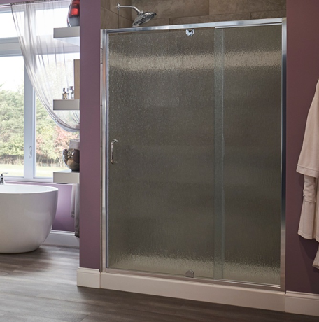 Recalled Cove & Suave series pivot swing door and stationary panel