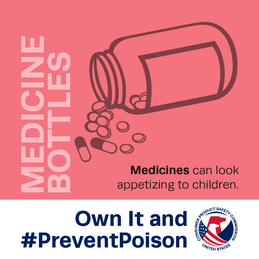 Own It and #PreventPoison: CPSC, Health Canada, and PROFECO Observe National Poison Prevention Week March 17-23, 2019