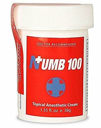 Recalled Numb 100 topical anesthetic cream