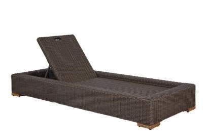 Recalled Patmos Chaise Lounge Chair in Brown