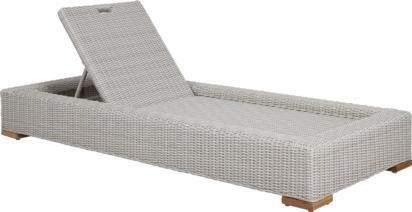 Recalled Patmos Chaise Lounge Chair in Gray