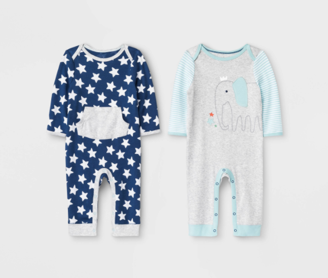 """Recalled Cloud Island """"Little Peanut"""" and True Navy Rompers"""