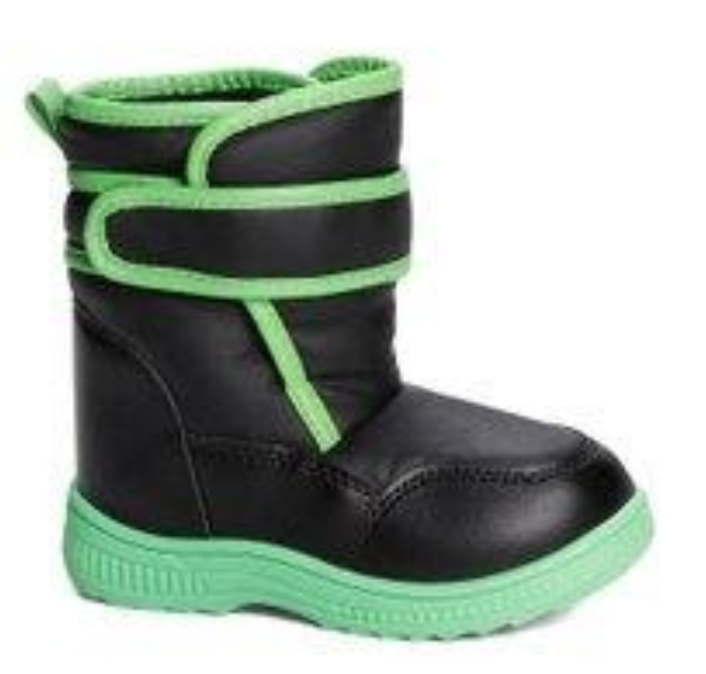 Recalled Lilly of New York children's boot –black with green
