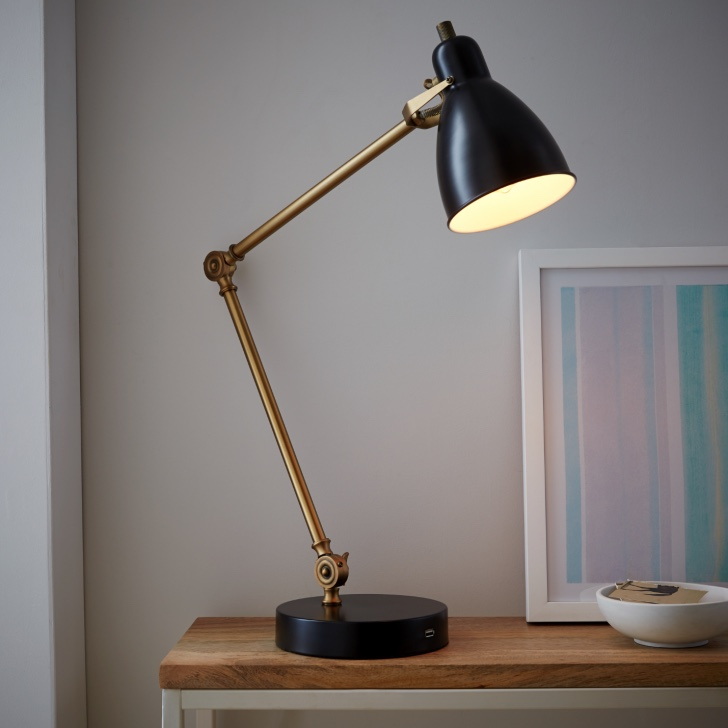 Recalled West Elm Industrial Task Lamp with USB Port