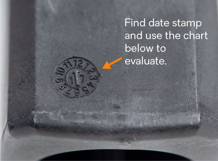 The date code is in a clock format