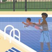Be Sure to Pool Safely! NSN Poster