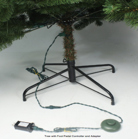 Recalled foot pedal controller and adapter with Christmas tree