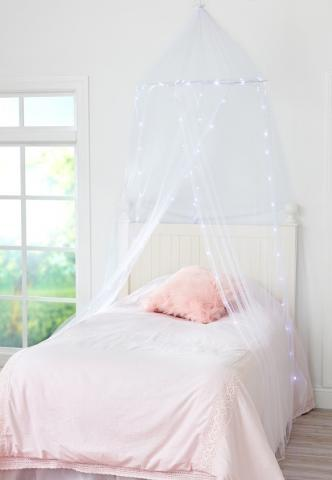 Recalled Justice Light Up Bed Canopy set (white)