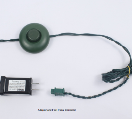 Recalled foot pedal controller with adapter