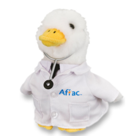 """Recalled 6"""" Plush Aflac Promotional Doctor Duck"""