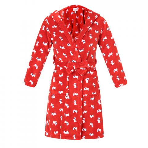 Recalled Richie House children's robe in red with dog print