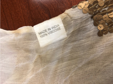 Ranee's beach cover up label