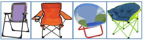 Examples of children's folding chairs